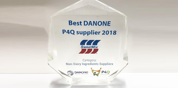 Sweetmix conquista prêmio Best Danone P4Q Supplier 2018